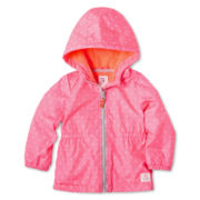 Carter's® Dot Fleece-Lined Coat - Girls 12m-24m