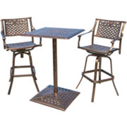 Sebastian 3-pc. Cast Aluminum Outdoor Bistro Set