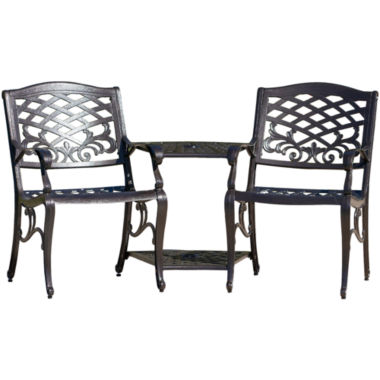 jcpenney.com | Sandestin Outdoor Cast Aluminum Double Chair