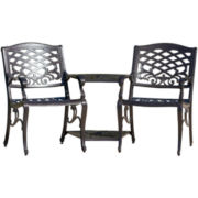 Sandestin Outdoor Cast Aluminum Double Chair