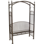 Vilano Outdoor Cast Aluminum Trellis Bench