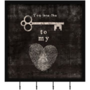 Key to My Heart Wall Decor with Hooks