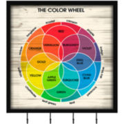 Color Wheel Wall Decor with Hooks