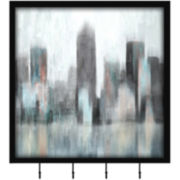 Cityscape Wall Decor with Hooks