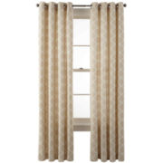 JCPenney Home™ Nolan Grommet-Top Cotton Curtain Panel
