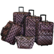 American Flyer Pemberly Buckles 5-pc. Expandable Upright Luggage Set