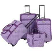 American Flyer Signature 4-pc. Expandable Upright Luggage Set