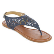 Cutout Shield Sandals