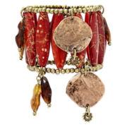 Aris by Treska Red Bead Statement Bracelet