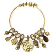 Aris by Treska Gold-Tone Charm Dangle Bracelet