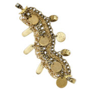 Aris by Treska Gold-Tone Disc 4-Row Shaky Bracelet
