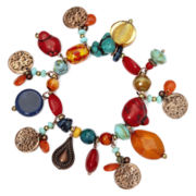 Aris by Treska Multicolor Stone Shaky Trinket Stretch Bracelet