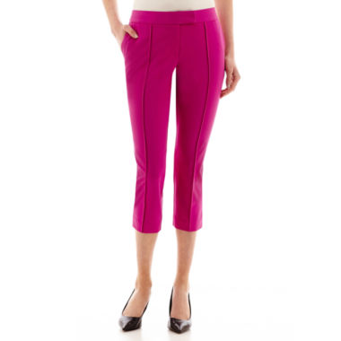 jcpenney.com | Worthington® Pintuck Tab-Waist Cropped Pants - Tall