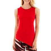 Worthington® Sleeveless Asymmetrical Top - Tall