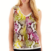 Worthington® Double-Layer V-Neck Tank Top - Plus