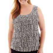 Liz Claiborne® Tiered Tank Top - Plus