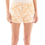Sapphire Ink High-Waist Raw-Hem Shorts