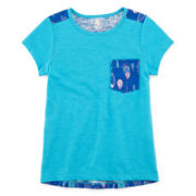 Arizona Pleated-Back Raglan Tunic - Preschool Girls 4-6x