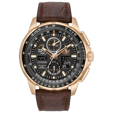 jcpenney.com | Citizen® Eco-Drive Mens Rose Gold Tone Limited Edition Skyhawk A-T Strap Watch JY8056-04E