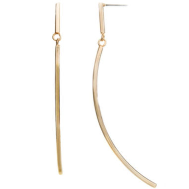 jcpenney.com | a.n.a® Gold-Tone Curved Linear Earrings