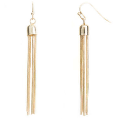 jcpenney.com | a.n.a® Gold-Tone Tassel Earrings