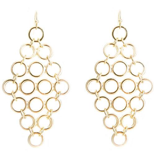 a.n.a® Gold-Tone Open Disc Earrings