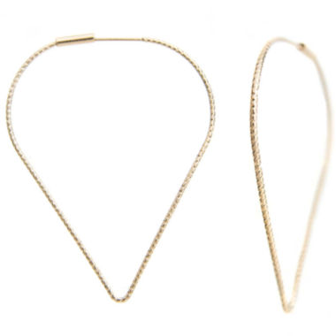 jcpenney.com | a.n.a® Gold-Tone Turned Hoop Earrings