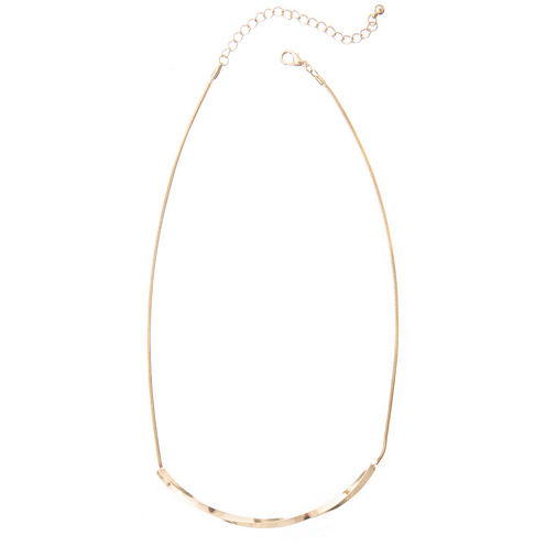 a.n.a® Gold-Tone Bar Necklace