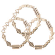 a.n.a® 3-Row Gold-Tone Stretch Bracelet