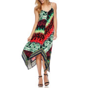 Weslee Rose Sleeveless Alternative-Hem Maxi Dress