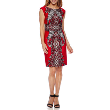jcpenney.com | Studio 1® Sleeveless Scroll Print Sheath Dress