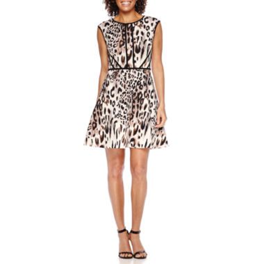 jcpenney.com | Studio 1® Animal Print Fit-and-Flare Dress - Petite