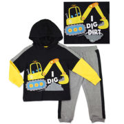 Novelty 2-pc. Black Long-Sleeve Pullover and Pants Set - Toddler Boys 2t-4t