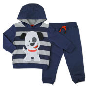 Novelty 2-pc. Navy Long-Sleeve Pullover and Pants Set - Toddler Boys 2t-4t