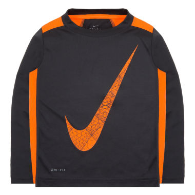 jcpenney.com | Nike® Dri-FIT Long-Sleeve Tee - Preschool Boys 4-7