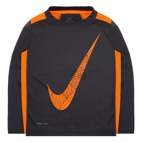 Nike® Dri-FIT Long-Sleeve Tee - Preschool Boys 4-7