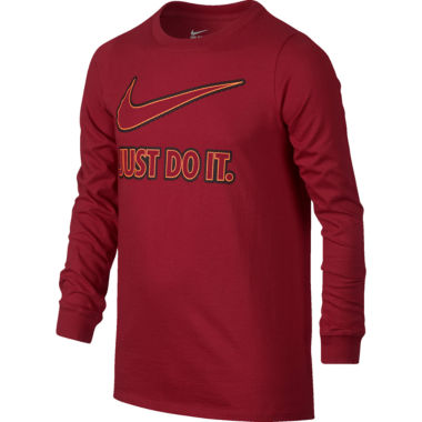 jcpenney.com | Nike® Just Do It Long-Sleeve Tee - Boys 8-20