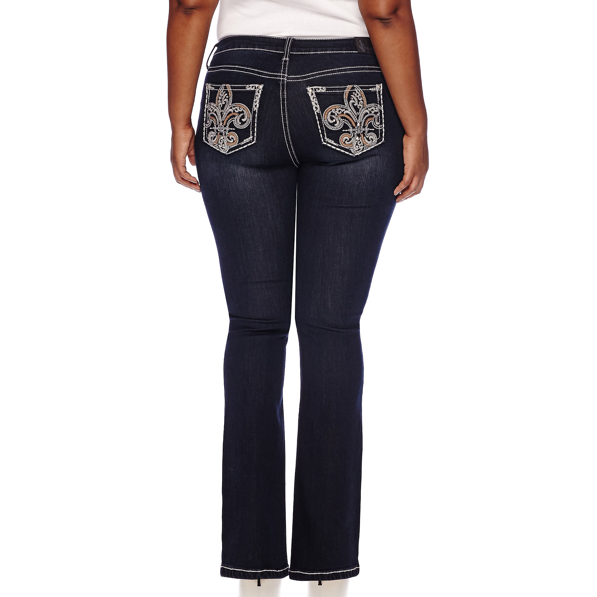 Soundgirl Bling Pocket Bootcut Jeans - Juniors Plus plus size,  plus size fashion plus size appare