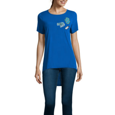 jcpenney.com | Short-Sleeve High-Low Patch Tee - Juniors