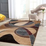 Alpine Abstract Circles Rectangular Rug