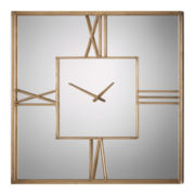 "Sebastano 35.38"" Square Wall Clock"