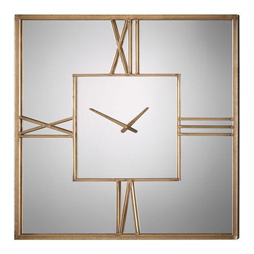 "Sebastano 35.38"" Square Wall Clock"