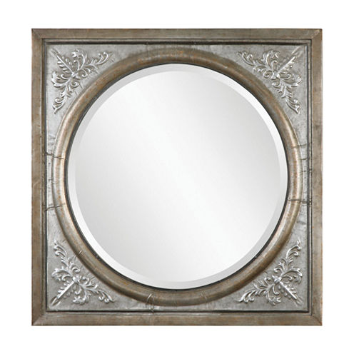 Ireneus Burnished Silver Metal Mirror