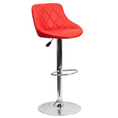 jcpenney.com | Upholstered Bucket Seat Contemporary Barstool