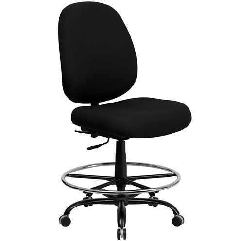 Contemporary Big & Tall Armless Drafting Stool