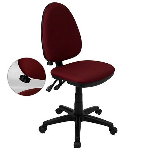 Armless Fabric Office Chair