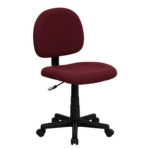 Armless Contemporary Fabric Office Chair