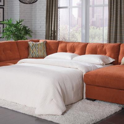 signature design by ashley delta city 3pc sleeper sofa sectional jcpenney - Sleeper Sofa Sectional
