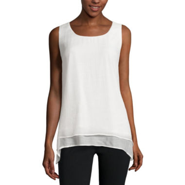 jcpenney.com | Alyx® Sleeveless Gauze Shark-Bite Top