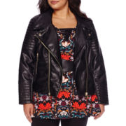 Bisou Bisou® Moto Pleather Jacket - Plus